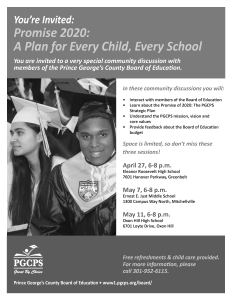 BOE Invest in PGCPS Flyer