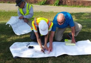 CWP Partners Nardi Construction and Soltesz reviewing design plans for L...